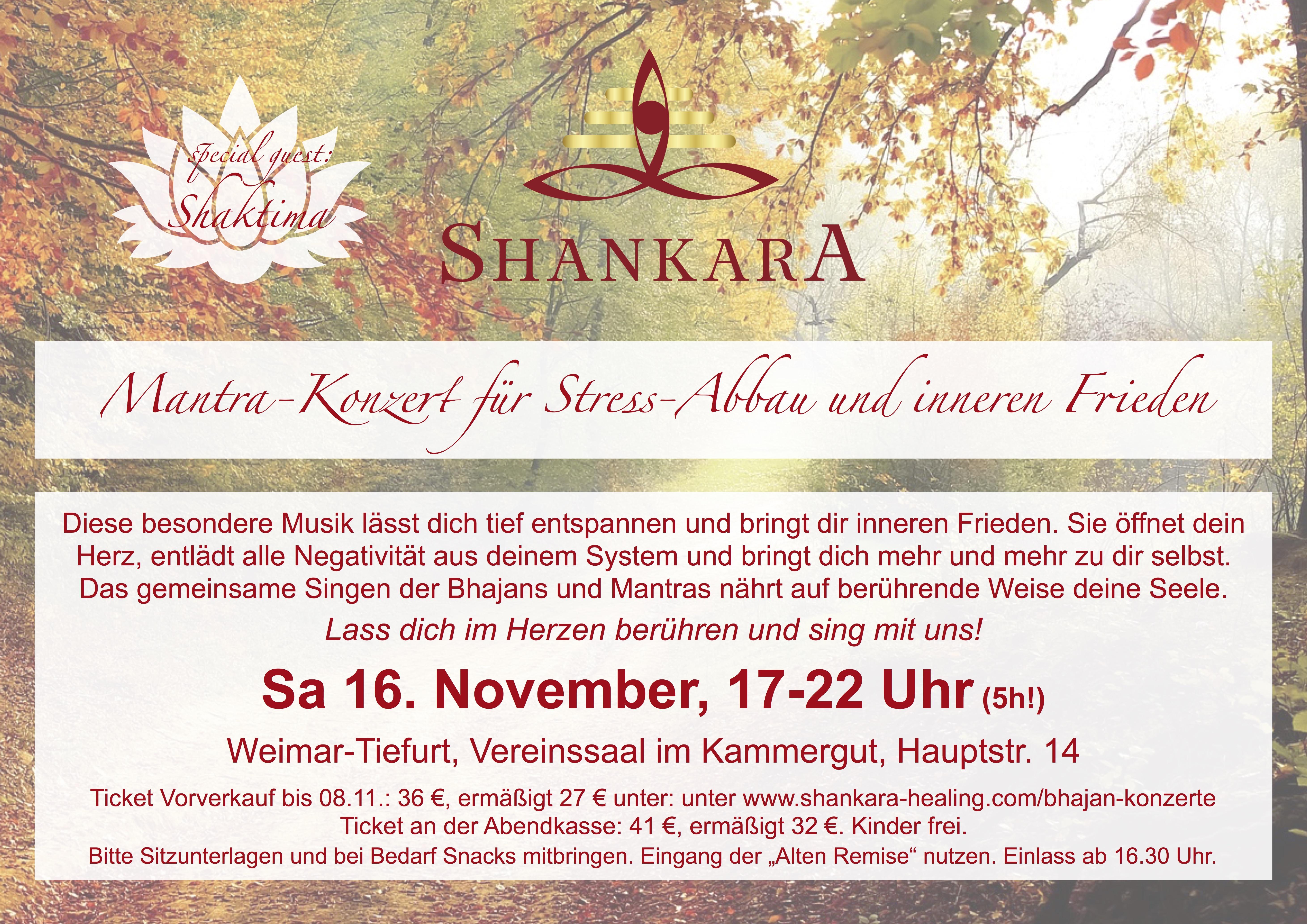Mantra-Konzert für  Stress-Abbau und innere Stille (5h!!)