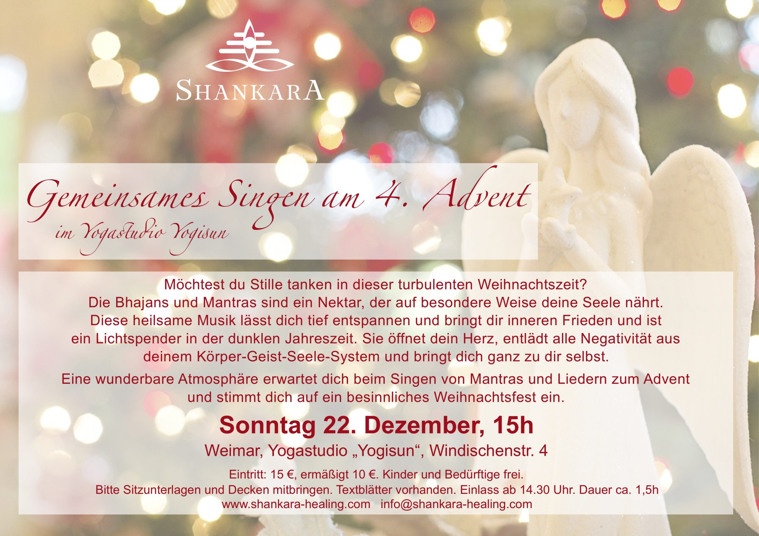 Gemeinsames Singen am 4. Advent
