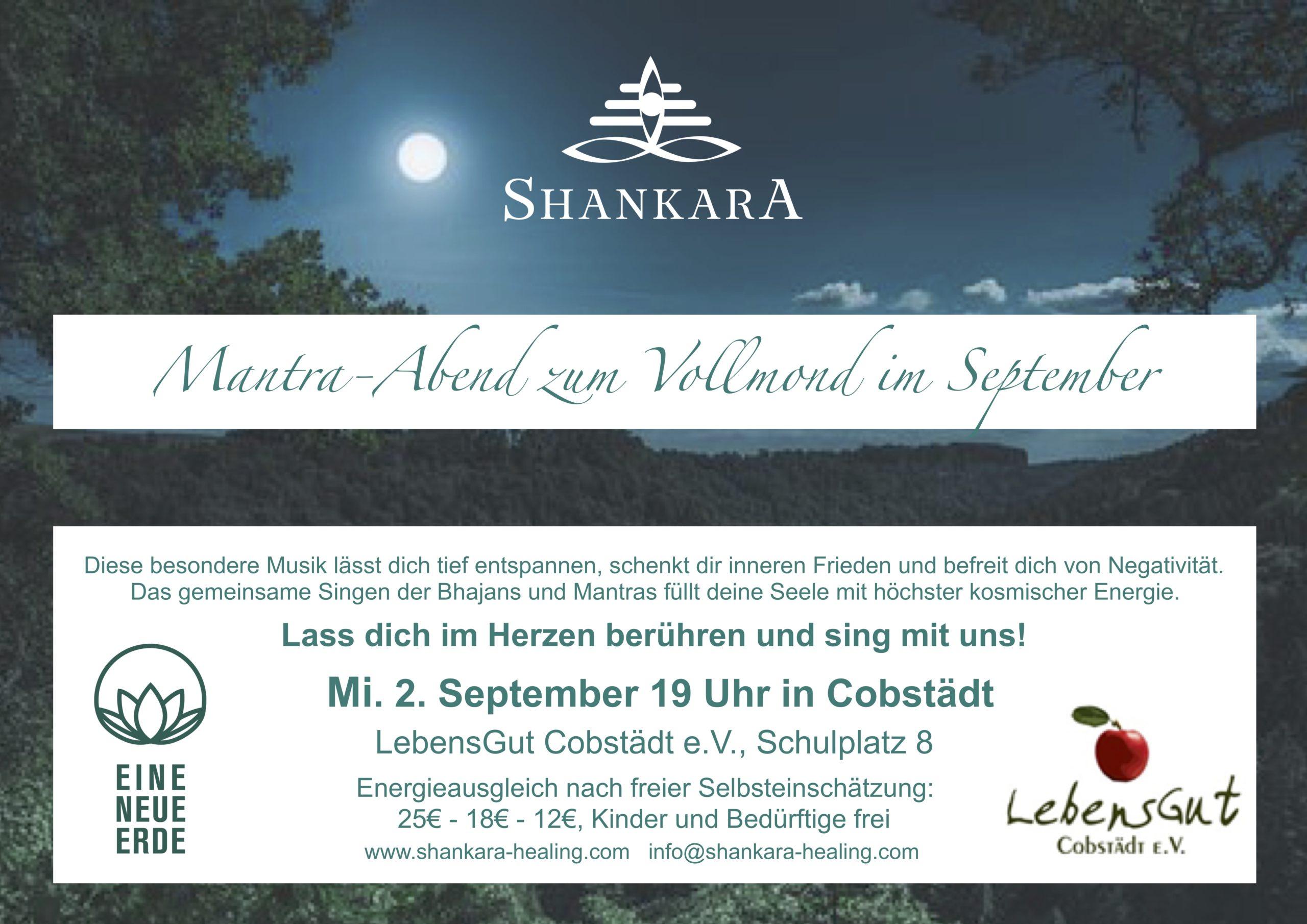Mantra Abend zum Vollmond im September