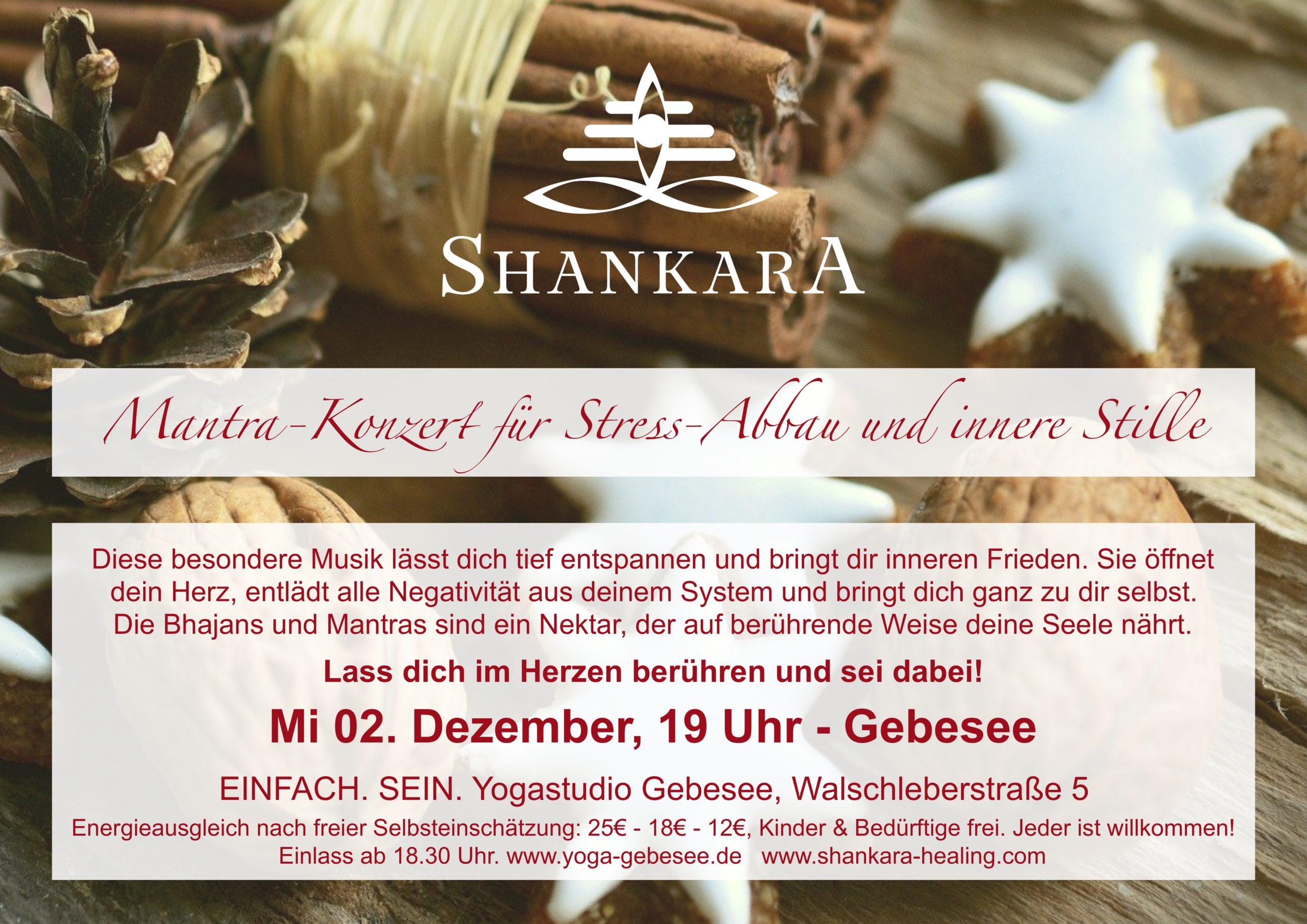 Mantra-Konzert für Angst-Abbau und innere Stille